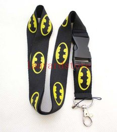 $enCountryForm.capitalKeyWord NZ - High quality The pattern of Batman lanyard key chain keychains ID Badge ipod cell phone holder lanyard Camera hanging rope neck band 10p