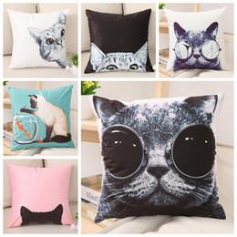 $enCountryForm.capitalKeyWord NZ - cool cat cushion cover cute pet sofa chair throw pillow case short plush cojines decorativos 45cm almofada