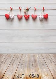 Discount valentine backgrounds - SHANNY Vinyl Custom Valentine day Photography Backdrops Prop Wooden and floor Theme Photography Background 10548