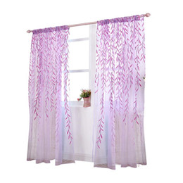 Patterns Curtains UK - Transparent Tulle Window Sheer Window Screen Rod Pocket Voile Curtains with Wicker Pattern