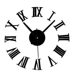 $enCountryForm.capitalKeyWord NZ - 3D DIY Home Decor Large Roman Mirror Fashion Modern Quartz Clocks Living Room Diy Wall Clock Watch Stylish Wall Clocks