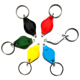 Keyring rings Key chain online shopping - 20000mcd LED Flashlight White Torch Key Chains Ring Keyrings white light LED Flashlight Keychain Torch Light Key Chains