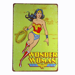 $enCountryForm.capitalKeyWord UK - Wonder Woman Marvel Super Hero Comics Retro Same Room Wall Decor Metal Tin Sign