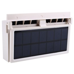 China Mini Solar Power Car Air Vent Cool Fan Air Conditioner Battery Can Supply Power supplier solar car cooling suppliers