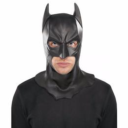 Full Face Costume Mask Australia - Realistic Halloween Full Face Latex Batman Mask Costume Superhero The Dark Knight Rises Movie Party Masks Carnival Cosplay Props