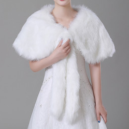 ivory bridal shawls Australia - Winter Ivory Imitation fur Bridal Wrap Shawl Coat Soft Warmer Shrug Cape Wrap Jacket Accessories For Wedding Party cpa1497