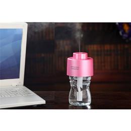 Stick Diffuser NZ - 2017 Usb Gadget Mini Humidifier Office Air Diffuser Absorbent Filter Sticks USB Portable ABS Water Bottle Cap Aroma Mist Maker
