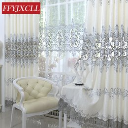 $enCountryForm.capitalKeyWord NZ - Luxury Europe Embroidered Tulle Window Curtain For living Room Bedroom Blackout Curtains Window Treatment Drapes Home Decor
