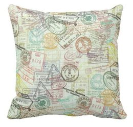 $enCountryForm.capitalKeyWord UK - Passport Stamps Travel Pattern Throw Pillow