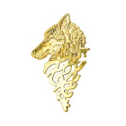$enCountryForm.capitalKeyWord UK - SHUANGR 1pc Domineering Wolf Head Design Mens Clothes Jewelry Brooches Men's Suits Accessories Brooch Pins Best Sale