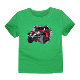 $enCountryForm.capitalKeyWord UK - Children Short 2018 3D Truck T-shirt Kids Cartoon Cars Cotton Shorts For Boys and Girls summer tees baby tops Size 2-14T