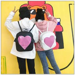 new backpacks 2019 - 2 Colors New Ita-bag Glitter Clear Flap Wing Backpack Harajuku Girls Kawaii Bling Transparent Love School Bag Outdoor Ru