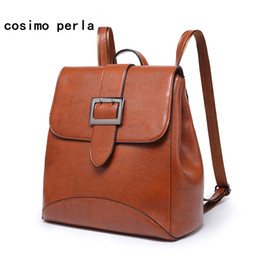 62099cee41 Square Buckle Lock Designer Multifunctional Women backpack Fashion PU  leather Casual Travel Backpacks Female Solid Shoulder Bags