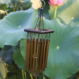 $enCountryForm.capitalKeyWord NZ - Decoration Crafts Chimes Hanging Decorations 66cm Metal Wind Chime Outdoor Living Wind Chimes Yard Garden 16 Tubes Bells Copper Home Yard