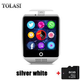 $enCountryForm.capitalKeyWord Canada - Q18 Smart Watch Camera TF SIM Card Phone Watch Sync SMS Facebook Twitter Bluetooth Smartwatch for Samsung Android 2018 new X6 A1