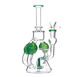 $enCountryForm.capitalKeyWord UK - Small recycle bong oil rig dab rig water pipe jade color flower prec function with one accessory
