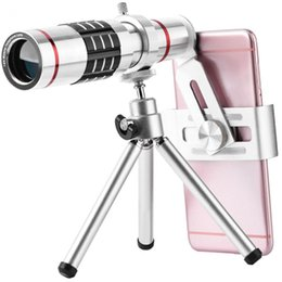zoom alloy Australia - Freeshipping Cell Phone Camera Lens Kit Universal 18X Optical Zoom Telephoto Telescope Len with Aluminum Alloy Tri