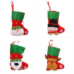Albero di Natale Ornamenti pendenti Decorazione per feste Ornamenti in miniatura Calzino
