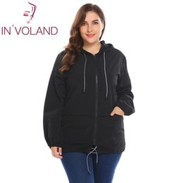 546d8b725c7 Women Rain Jackets UK - IN VOLAND Plus Size Women s Jacket Rain Coat  Windproof Full