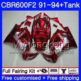 Honda Cbr F2 Red Fairings Australia - Body For HONDA CBR 600 F2FS CBR600 F2 1991 1992 1993 1994 1MY.80 CBR600FS CBR 600F2 CBR600RR Silvery red CBR600F2 91 92 93 94 Fairing kit