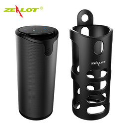 Iphone Speakers Radio NZ - New ZEALOT S8 HIFI Touch Control Portable Wireless Bluetooth Speaker with Sling Cover Car Music Speaker For Iphone Xiaomi Huawei