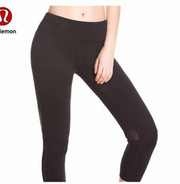 China 2018 new throgh High Waist Women Pant yoga pants Solid Black Sports Gym Wear Leggings Elastic Fitness Lady Overall Full Tights suppliers
