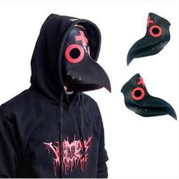 Birds Mask Australia - 2019 Wholesales free shipping Steampunk Plague Doctor Mask Bird Beak Halloween Prop Cosplay Punk Gothic Masks