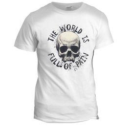 c19ec341af World of Pain Skull Tumblr Biker Motorcycle Gang Rider Hot Rod Tattoo T  Shirt 100% Cotton Short Sleeve O-Neck T Shirt men T shirt o-neck
