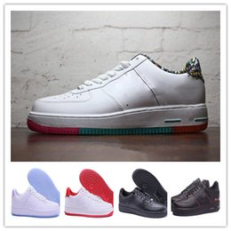 70d213223cf 2018 forcing Classical All White black gray low high cut men   women Sports  sneakers Running Shoes Forcing one skate Shoes 36-46