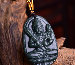 $enCountryForm.capitalKeyWord NZ - Natural Hetian jade jade empty emptiness bodhisattva jade pendant Authentic men and women are cattle genus tiger patron saint buddha