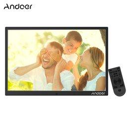 Andoer 17 polegadas LED Photo Frame 1080 P Máquina de Publicidade Suporte Shuffle Play Liga de Alumínio quadro de Presente de Aniversário de Natal