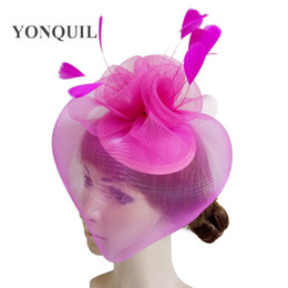 crinoline hair NZ - Free shipping fascinator hats 3 colors avaliable high quality black crinoline fascinator hats very nice beige bridal hair accessoires SYF250