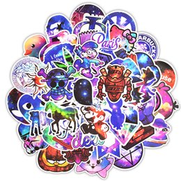 Wholesale 50pcs Mixed Galaxy Sticker Stars Dream Anime Cartoon Stickers for DIY Luggage Laptop Skateboard Car Motorcycle Bicycle Stickers