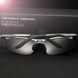 Veithdia glasses online shopping - VEITHDIA Sun Glasses Aluminum Magnesium Polarized Sunglasses Men s Glasses Driving Mirror Male Fashion Sun Glass UV400 D18102305