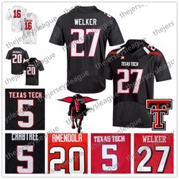 lowest price 01060 e71f4 Texas Tech Red Raiders  27 Wes Welker 44 Donny Anderson 55 E.J. Holub  Stitched Red Black White NCAA College Football Jerseys S-4XL