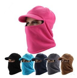 TacTical haTs online shopping - Winter masks Warm Hat Thicker Fleece Barakra Hat Cycling Caps motorcycle Skiing Sport Windproof cap Tactical mask MMA1095
