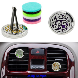 bulk cars Canada - Aromatherapy Car Vent Essential Oil Diffuser For Car Locket Clip with 5PCS Washable Felt Pads free shipping