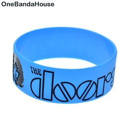 $enCountryForm.capitalKeyWord UK - Hot Sell 1PC Rock Band The Doors Silicone Wristband 1 Inch Wide Bracelet for Music Fans