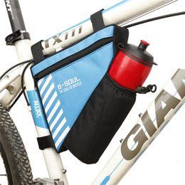 Dark Cycles NZ - CycleZone Waterproof Cycling Front e Bag Mountain Bike Front Tube Frame Bag With Water Bole Pocket Phone Pouch Case Bag