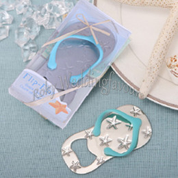 beach bottle opener wedding favors UK - 100PCS Seastar Flip Flop Bottle Opener Wedding Favors Beach Theme Bridal Shower Party Event Favors Wedding FlipFlop Bear Opener