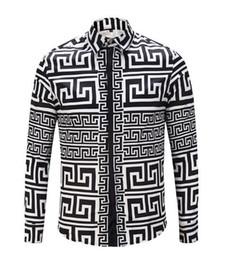 Velour clothing online shopping - ktv Famous Brand design clothes men galaxy golden dragon flower print long sleeve d shirt Baroque printing Medusa Shirt05