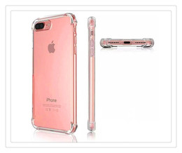 Iphone 5s Back Side Australia - Transparent Shockproof Acrylic Hybrid Armor Bumper Side Soft TPU Frame Back PC Hard Case Clear Air Cushion cover For iphone 5s 6 6s 7 8 Plus