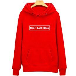 $enCountryForm.capitalKeyWord Australia - Dont look back hoodies Letters sweat shirts Cool words athletic fleece clothing Pullover sweatshirts Sport coat Outdoor jackets