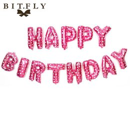 Birthday Decoration Sets NZ - vent Party Ballons Accessories BITFLY 1 Set 16 Inch Aluminium Foil Balloons Happy birthday letter balloons birthday party decorations Kid...