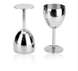 red wine drinks 2019 - 2pcs  Set 304 (18  8 )Stainless Steel Red Wine Glasses Drinking Whisky Vodka Champagne Beer Goblet Mug For Party Wedding