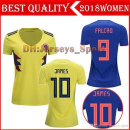 eec1a4227 World Cup 2018 Colombia Home Away Women Soccer Jerseys James Falcao Futbol  Camisa Camisetas Shirt Kit Maillot