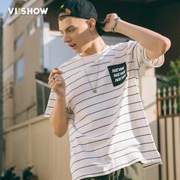 Black White Striped Top Men Australia - VIISHOW Black White Striped T Shirt Men Cotton Vintage Hip Hop Harajuku Tops Tee Men Striped Tshirt Streetwear Short Sleeve Tee