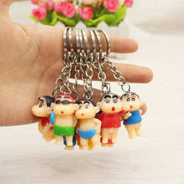 Japanese silicone toy girls online shopping - 8 Set Of Cute Japanese Cartoon Doll toy Doll With Crayon And New Key Chain Pendant