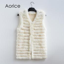 $enCountryForm.capitalKeyWord Australia - Pudi VT801 new women fashion warm fur vests rabbit hair fur coat warm with a variety of color optional beige black plus size