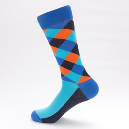 $enCountryForm.capitalKeyWord UK - Colorful Argyle Striped Tube Socks Hipster Mens Fancy Streetwear Compression Skateboard Tartan Cotton High Hue Sock Large Unisex